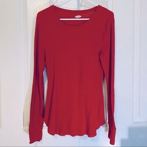 Old Navy Red Thermal Top